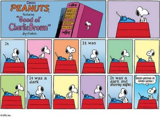 peanuts-writing-is-hard-work