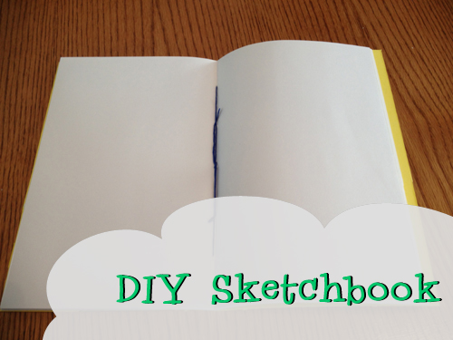 DIY Yellow Sketchbook